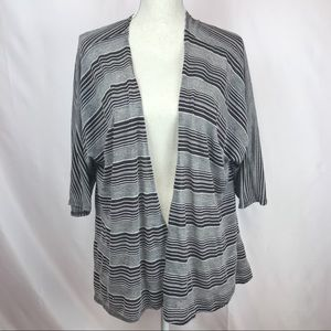 Lularoe Lindsay Striped Kimono